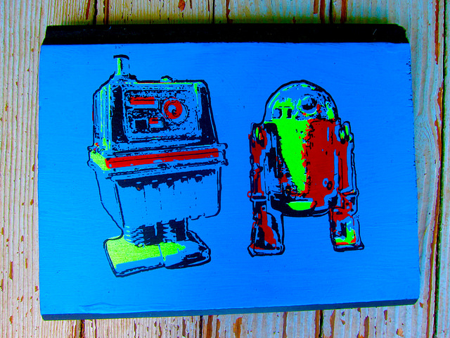 painting of droids by jason krekel
